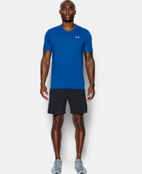 Men's UA Threadborne Streaker V-Neck  1 Color $29.99
