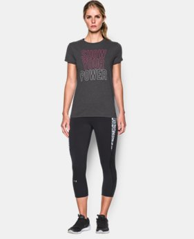 UA Power In Pink® Charged Cotton® Tri-Blend Show Your Power Crew LIMITED TIME: FREE SHIPPING 1 Color $29.99