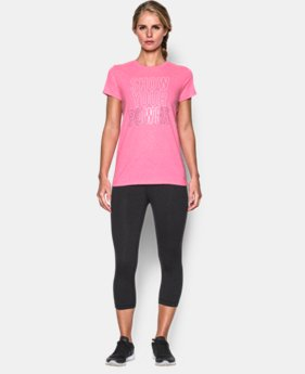 UA Power In Pink® Charged Cotton® Tri-Blend Show Your Power Crew  1 Color $29.99