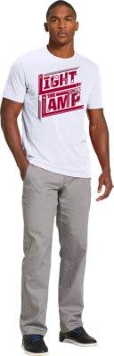 Menu0027s UA Hockey Light The Lamp T Shirt, White