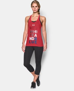 New Arrival Women's UA Red White Blue Tank LIMITED TIME: FREE U.S. SHIPPING 1 Color $18.99