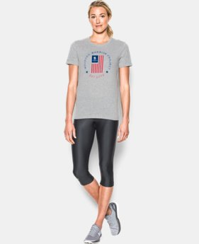 Women's UA Freedom Flag Short Sleeve T-Shirt LIMITED TIME: FREE SHIPPING 1 Color $29.99