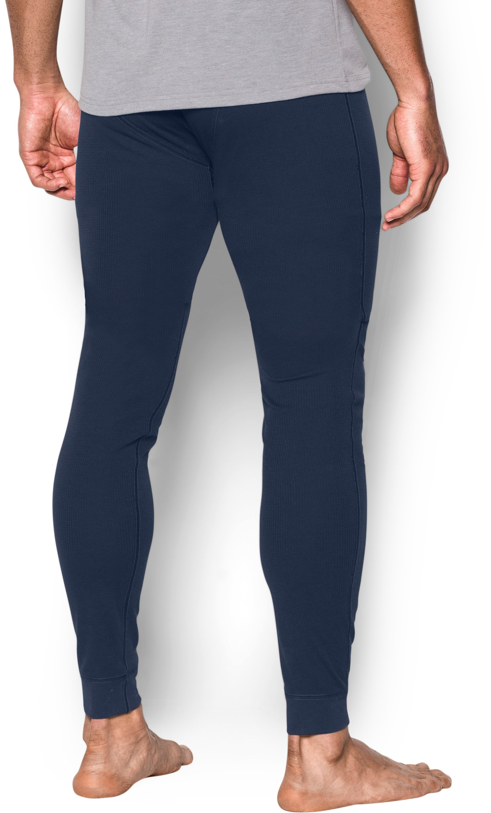 Men's UA Waffle Leggings, Midnight Navy