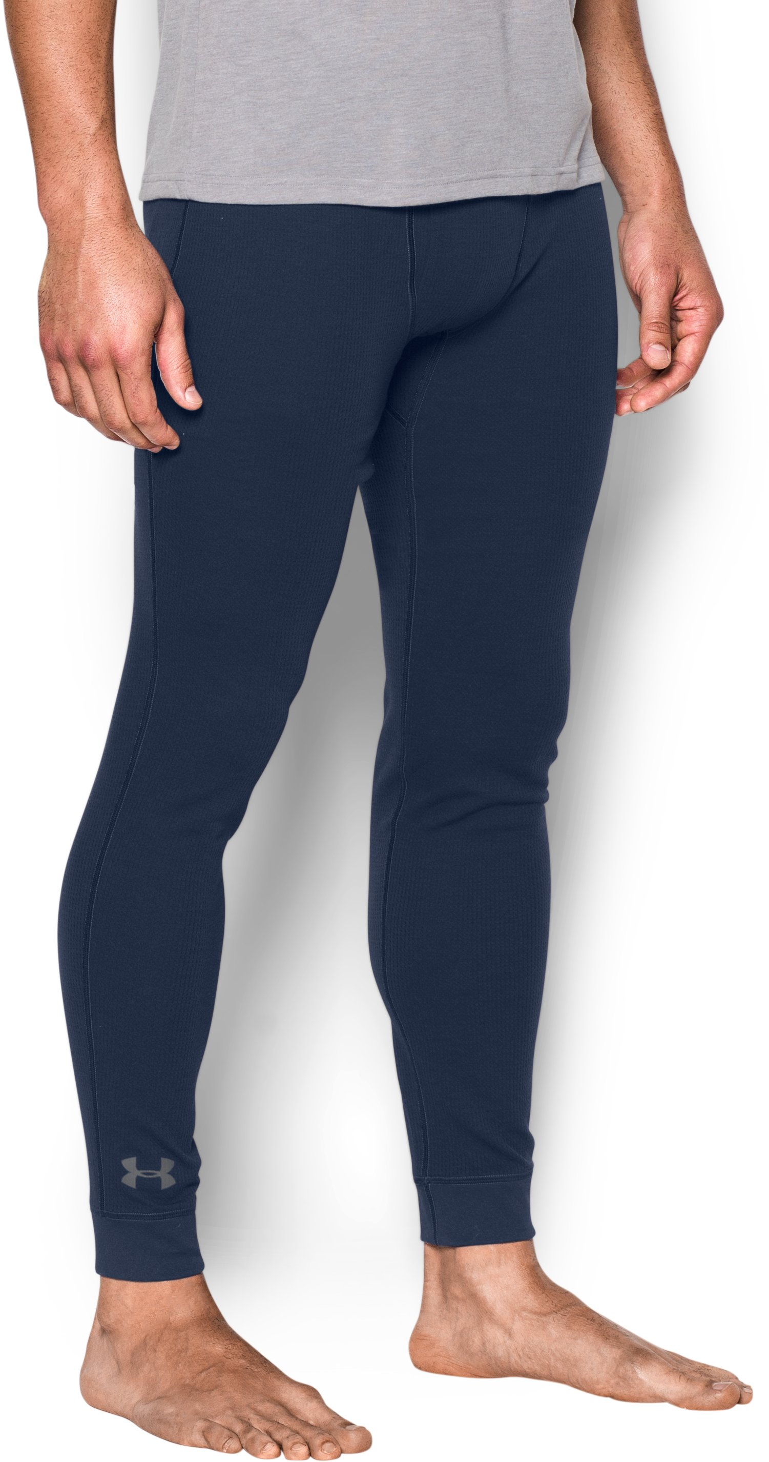 Men's UA Waffle Leggings, Midnight Navy, zoomed image