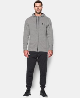New Arrival Men's UA Sportstyle Fleece Zip Hoodie  4 Colors $64.99