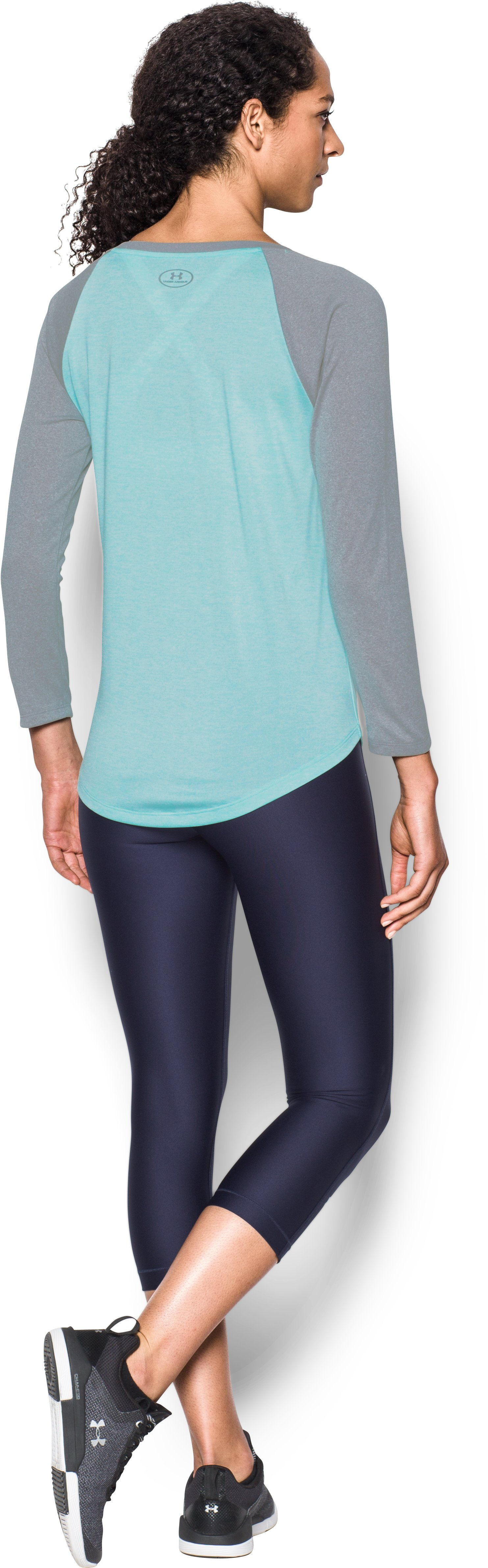 Women's UA Tech™ 3/4 Sleeve - Twist, BLUE INFINITY, Back
