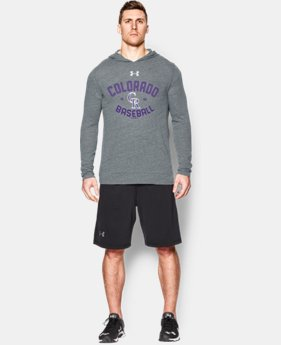 Men's Colorado Rockies UA Tri-Blend Hoodie
