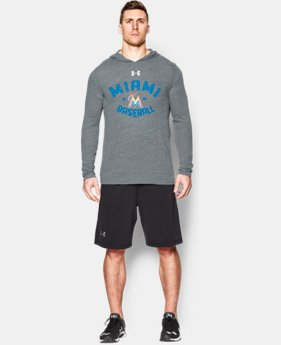 Men's Miami Marlins UA Tri-Blend Hoodie