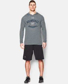 Men's Milwaukee Brewers UA Tri-Blend Hoodie LIMITED TIME: FREE U.S. SHIPPING 1 Color $28.49