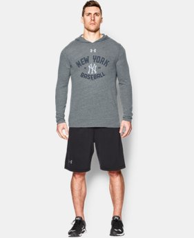 New Arrival  Men's New York Yankees UA Tri-Blend Hoodie  1 Color $59.99