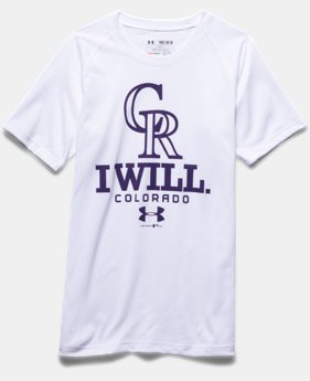Boys' Colorado Rockies I Will UA Tech™ T-Shirt