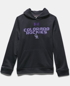 Boys' Colorado Rockies UA Storm Armour® Fleece Hoodie
