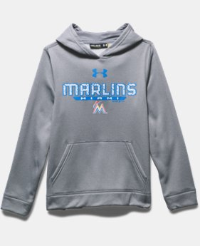 Boys' Miami Marlins UA Storm Armour® Fleece Hoodie