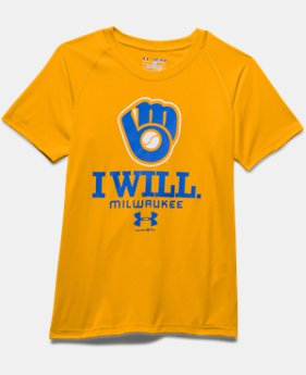 Boys' Milwaukee Brewers I Will UA Tech™ T-Shirt