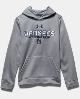 Boys' New York Yankees UA Storm Armour® Fleece Hoodie