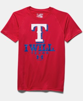 New Arrival Boys' Texas Rangers I Will UA Tech™ T-Shirt LIMITED TIME: FREE SHIPPING  $24.99