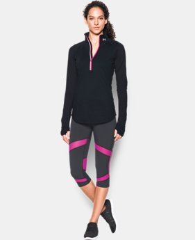 New Arrival  Women's UA Threadborne Run True 1/2 Zip LIMITED TIME: FREE SHIPPING 2 Colors $74.99