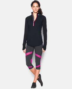 Women's UA Threadborne Run True 1/2 Zip   $64.99