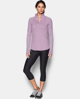 Women's UA Threadborne Run True 1/2 Zip  1 Color $35.99