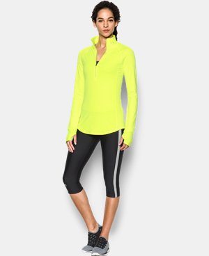 Women's UA Threadborne Run True 1/2 Zip  10 Colors $64.99