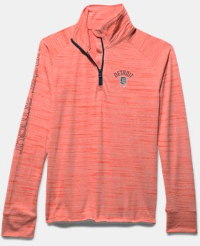 Girls' Detroit Tigers UA Tech™ ½ Zip