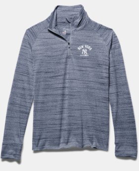 Girls' New York Yankees UA Tech™ ½ Zip