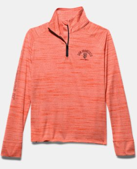 Girls' San Francisco Giants UA Tech™ ½ Zip