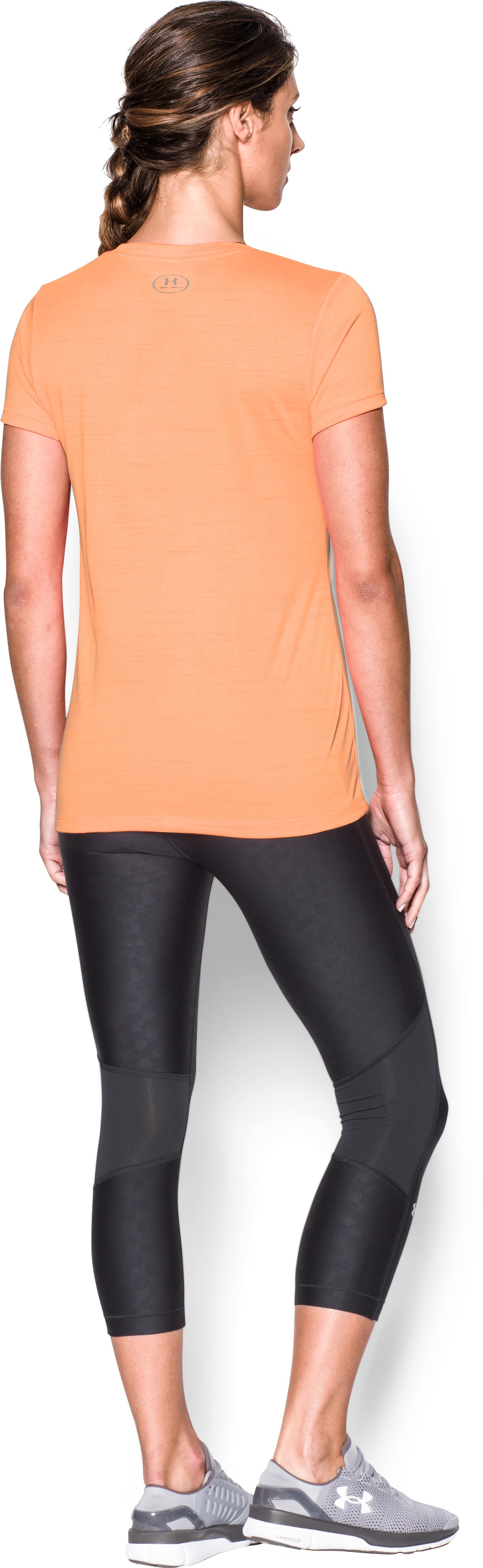 Women's UA Tech™ Tiger V-Neck, Afterglow, Back