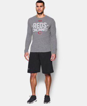 Men's Cincinnati Reds UA Tri-blend Long Sleeve T-Shirt