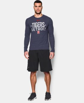 Men's Detroit Tigers UA Tri-blend Long Sleeve T-Shirt