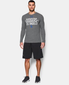 Men's Los Angeles Dodgers UA Tri-blend Long Sleeve T-Shirt