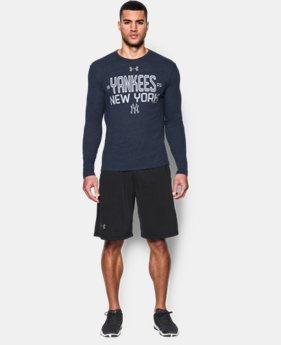 Men's New York Yankees UA Tri-blend Long Sleeve T-Shirt