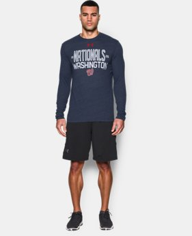 Men's Washington Nationals UA Tri-blend Long Sleeve T-Shirt