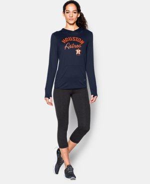 New to Outlet Women's Houston Astros UA French Terry Hoodie LIMITED TIME: FREE U.S. SHIPPING 1 Color $52.99