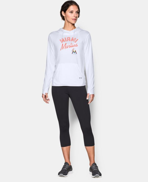 New to Outlet Women's Miami Marlins UA French Terry Hoodie LIMITED TIME: FREE U.S. SHIPPING 1 Color $52.99