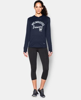 New to Outlet Women's Milwaukee Brewers UA French Terry Hoodie EXTRA 25% OFF ALREADY INCLUDED 1 Color $39.74