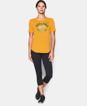 New to Outlet Women's Oakland Athletics Crew  1 Color $24.99