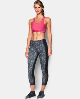 Women's Armour® Mid Embossed Sports Bra  1 Color $17.99 to $22.99