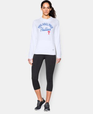 New to Outlet Women's Philadelphia Phillies UA French Terry Hoodie LIMITED TIME: UP TO 30% OFF 1 Color $52.99