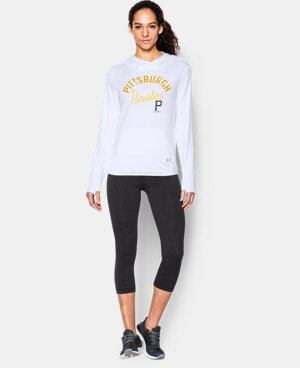 New to Outlet Women's Pittsburgh Pirates UA French Terry Hoodie LIMITED TIME: FREE U.S. SHIPPING 1 Color $52.99