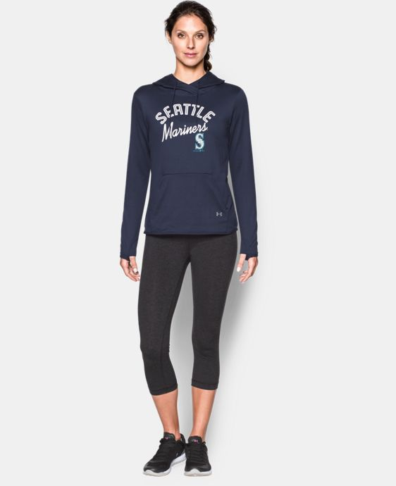 New to Outlet Women's Seattle Mariners UA French Terry Hoodie LIMITED TIME: FREE U.S. SHIPPING 1 Color $52.99