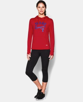 New to Outlet Women's Texas Rangers UA French Terry Hoodie  1 Color $52.99