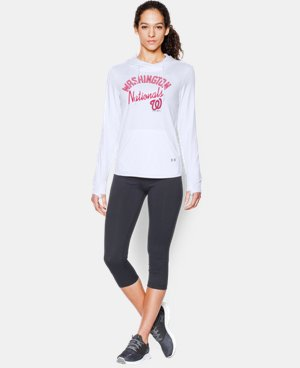 New to Outlet Women's Washington Nationals UA French Terry Hoodie  1 Color $39.74