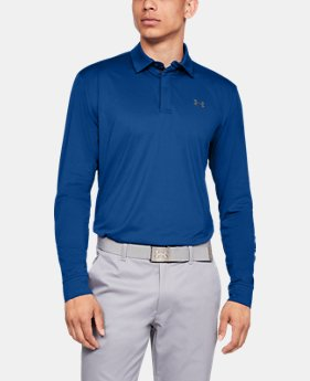 Best Seller Men's UA Playoff Long Sleeve Polo  1  Color Available $69.99