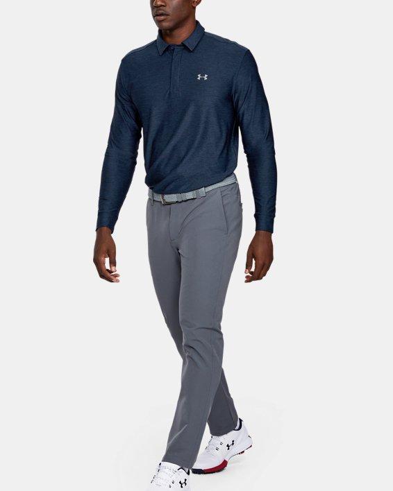 Men's UA Playoff Long Sleeve Polo, Navy, pdpMainDesktop image number 3