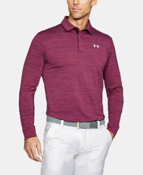 Best Seller Men's UA Playoff Long Sleeve Polo  6 Colors $69.99
