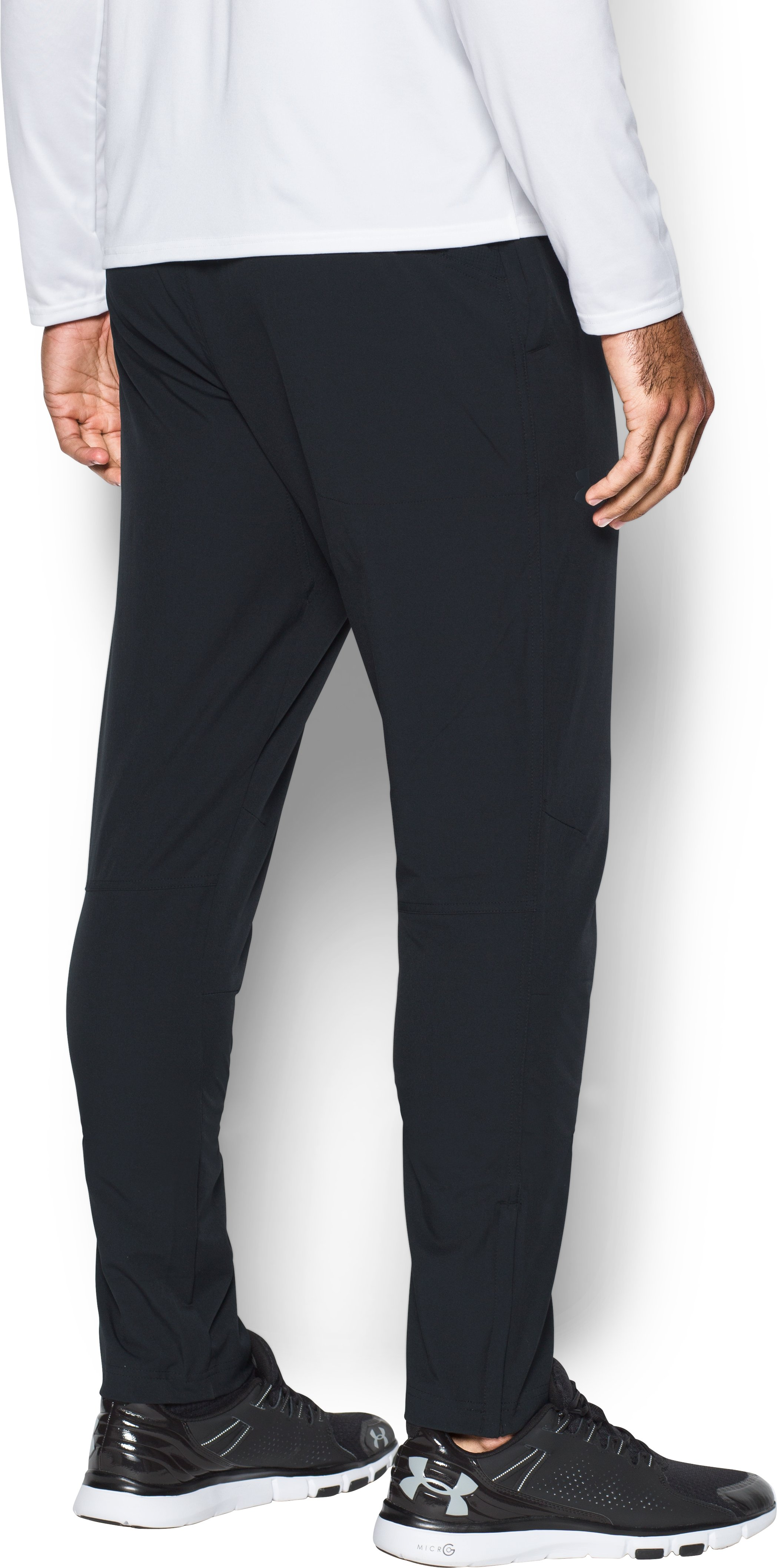 Men's UA WG Woven Tapered Pants, Black ,