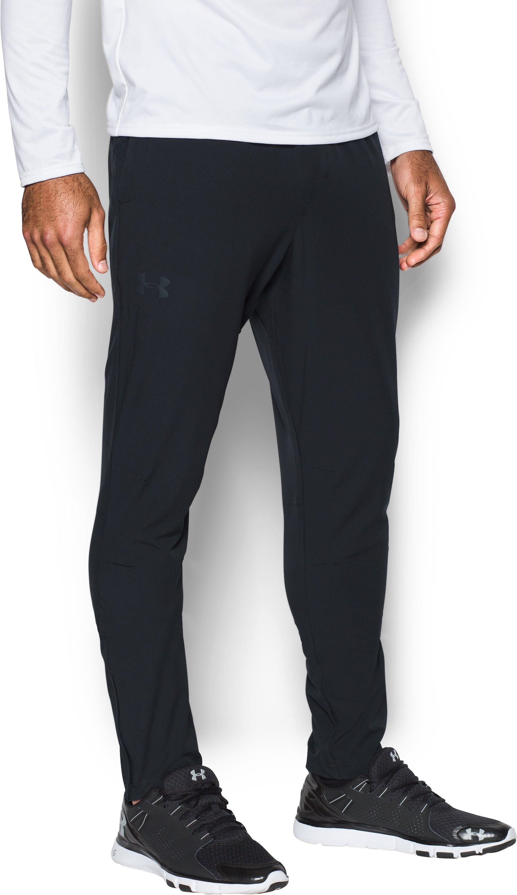 Men's UA WG Woven Tapered Pants, Black