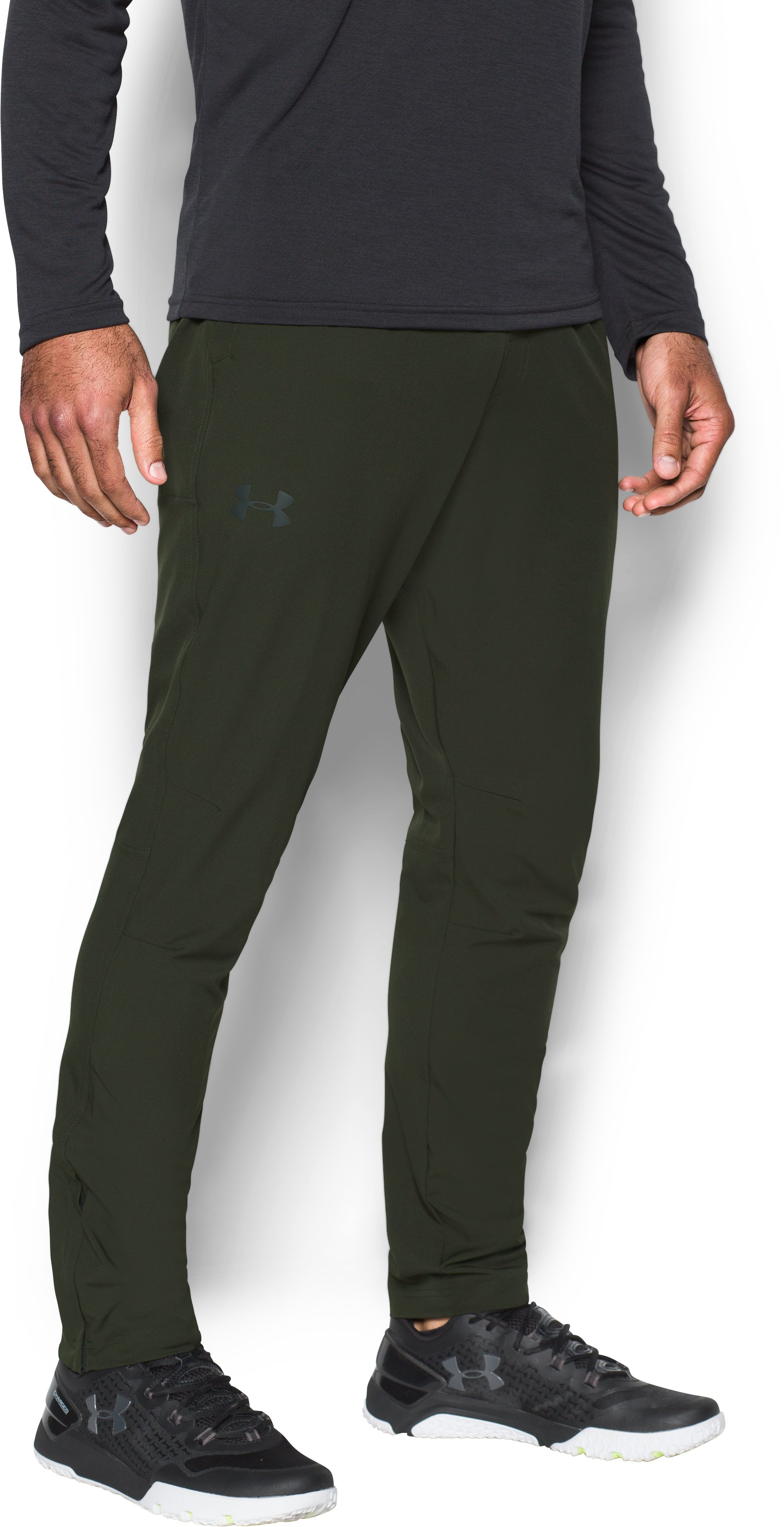 Men's UA WG Woven Tapered Pants, Artillery Green, undefined