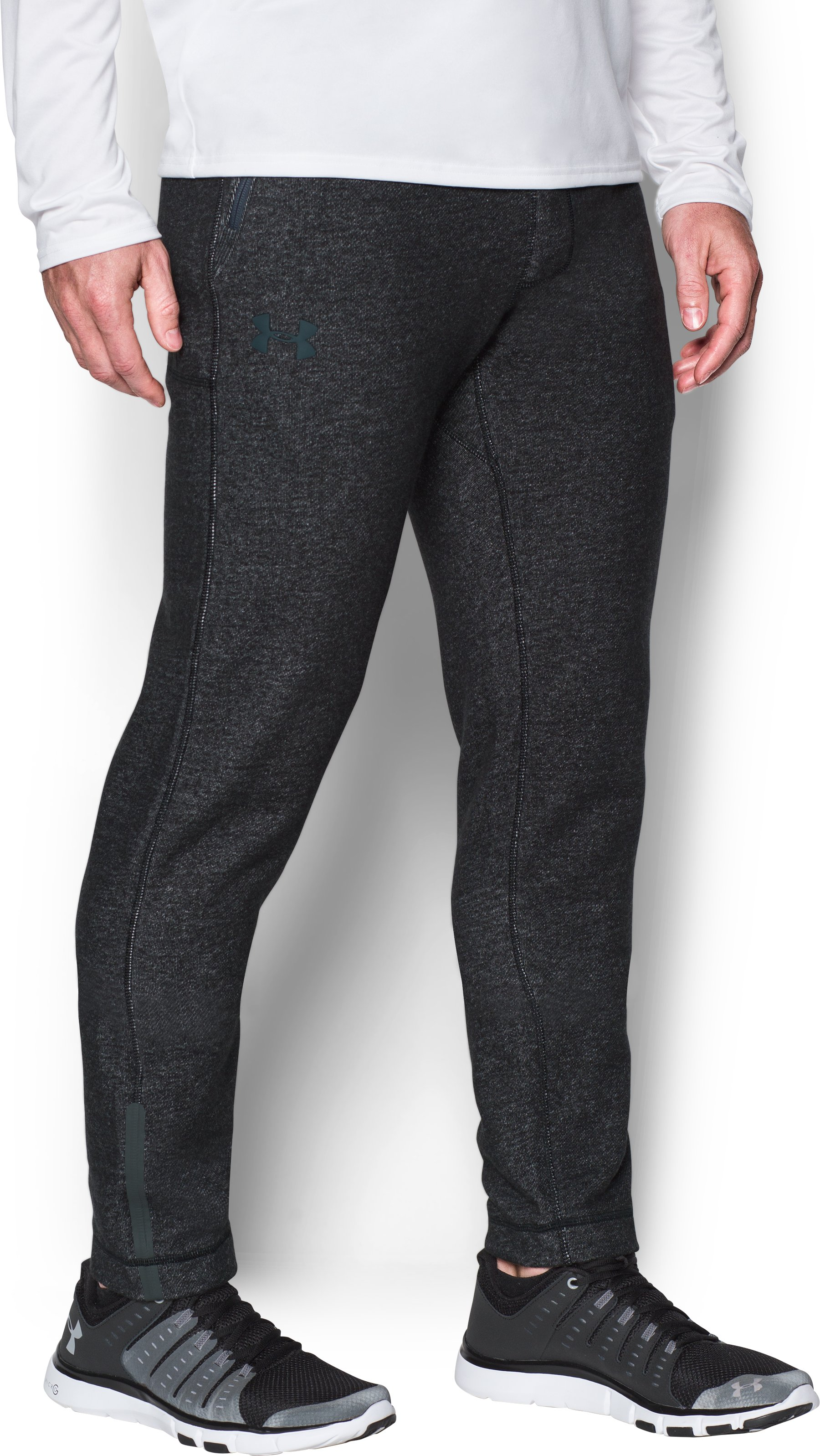 Men's UA Varsity Tapered Pants, Black , zoomed image